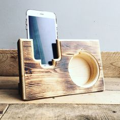 Acoustic Reclaimed Pallet Wood iPhone Smartphone Galaxy Mobile Device Speaker Amplifier by ReclamationConsign on Etsy https://www.etsy.com/listing/254022822/acoustic-reclaimed-pallet-wood-iphone