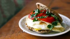 Healthy Caprese Egg Sandwich