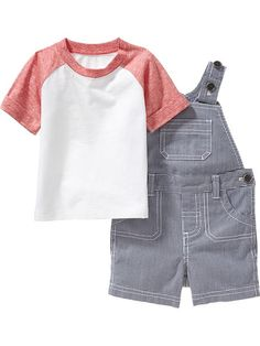 Tee and Shortalls Sets for Baby
