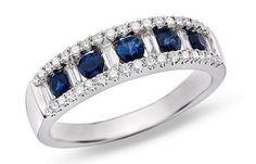 Sapphire and diamond ring! Love it