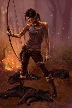 Lara Croft - Tomb Raider by *Terribilus on deviantART Lara Croft Cosplay, Lara Croft Tomb, Lara Croft 2013, Fantasy Characters, Female Characters, Lara Croft: Tomb Raider, Laura Croft, Rise Of The Tomb, Game Character