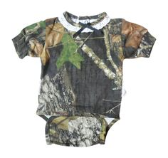 Camouflage Boy/'s Creeper Easy On Snap LS Mossy Oak Camo Baby Diaper Shirt
