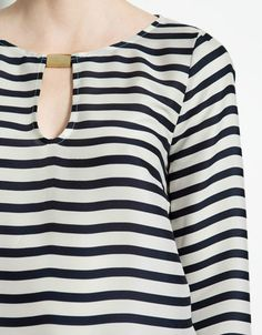 Casual & Trendy Stripe Middle-length Sleeve Top top dresses