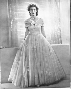 Princess Margaret of the United Kingdom on the day of her sister, Princess Elizabeth's, wedding to Prince Phillip of Greece.