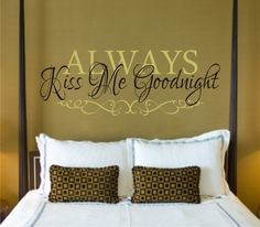 Add a lovely personal touch to your home decor in your bedroom, living room, or entryway with this beautiful giant monogram wall decal by Dali Decals. Custom Vinyl Wall Decals, Monogram Wall Decals, Name Wall Decals, Wall Decal Sticker, Vinyl Art, Kids Room Wall Decals, Wall Art, Always Kiss Me Goodnight, Bedroom Wall
