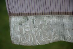 Pillowcase Antique Linen Purple Striped Handmade Crochet Lace Bedding Pillow Sham Pillow Case Romantic Vintage Rustic Old Lace Bedding, Purple Bedding, Pillow Shams, Bed Pillows, Pillow Cases, Ikea, Modern Bed Linen, Bed Linen Inspiration, Silk Bed Sheets
