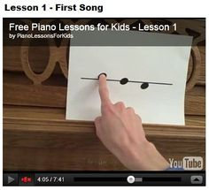 Just found this site and watched a few lessons - yay! Free piano lessons for the boys - great introduction!