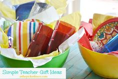 Simple teacher gifts @A T The Picket Fence www.atthepicketfence.com