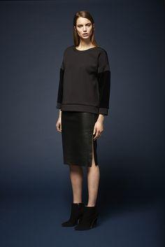 Sulka velvet sweater and Giselle leather pencil skirt http://www.dante6.com