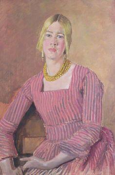 Augustus Edwin John (British, 1878–1961) : Eve Kirk, c.1940.