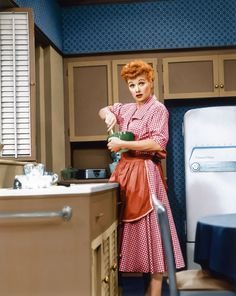 "Although it's easy to guess why Lucille Ball might have made history, her female first actually happened behind the scenes, long after her series ""I Love Lucy"" had ended. She and her then-husband Desi Arnaz had co-owned their own production company named Desilu. But in 1962, she became the first woman to own and manage a major TV studio on her own when she bought his share."