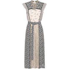 Tiered Silk Midi Dress Bottega Veneta ph8pifHu