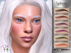 The Sims, Sims Cc, Eyelashes, Eyebrows, Bow Skirt, Sims 4 Cc Packs, Fairy Dress, Second Life, Genetics
