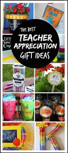 Tons of great teacher appreciation gift ideas; these are the best I've seen!