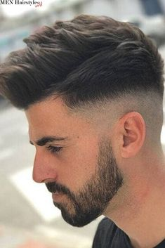 Long Comb Over Fade Haircut Messy Textured Top ❤️ Many barbers think that once a man opts for a Mens Messy Hairstyles, Combover Hairstyles, Haircuts For Men, Hairstyle Fade, Comb Over Fade Haircut, Types Of Fade Haircut, Fade Haircut Styles, Hair And Beard Styles, Curly Hair Styles