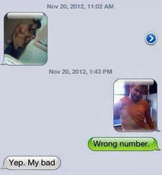 best response to a wrong number...