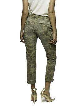 Mason's woman Cargo pants model Chile camouflage with studs - Masons