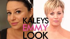 Kaley Cuoco's Emmy Red Carpet Makeup