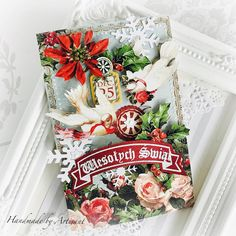 "Artisant: ""Cozy Christmas"" cards for Graphic 45 Beautiful Christmas Cards, Twelve Days Of Christmas, Cozy Christmas, Christmas Time, Christmas Crafts, Die Cut Cards, Graphic 45, Floral Wreath, Brand Ambassador"