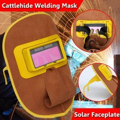 Cattlehide?welding?Mask Solar Filter Lens Security Protection Comfortable Hood Helmet Inner Goggles  Price: 25.99 & FREE Shipping  #hashtag2 Solar Filter, Shipping Packaging, Solar Battery, Solar Power, Welding, Filters, Helmet, Lens, Tools