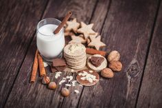 This week's free image duo is a celebration of the edible creations indicative of the coming holiday season. Merry Christmas, Christmas Sweets, Christmas Drinks, Christmas Mood, Fat Free Milk, Edible Creations, Xmas Cookies, Milk Cookies, Highball Glass