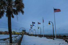 Myrtle Beach, SC - the Boardwalk - 1/29/14, winter storm Leon - (official Facebook page)