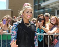 Demi Lovato arrives at the taping of The X Factor (USA) in Providence. RI.