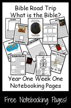 {Free Printable Notebook Pages} Bible Road Trip ~ Year One Week One