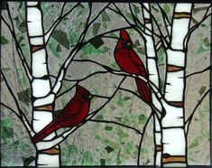 Gallery For > Stained Glass Cardinal