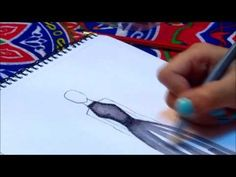 How to Add Color, Texture & Shadows | Fashion Sketching - YouTube