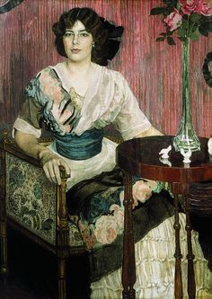 Portrait of the Singer Valentina Kuza c.1900 by Aleksandr Golovin (Russian 1863 – 1930)