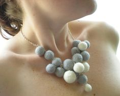 Delicate needle felted necklace from Rebecca's emporium
