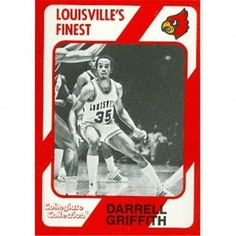 Autograph Warehouse 101703 Darrell Griffith Basketball Card Louisville 1989 Collegiate Collection No. Louisville Basketball, Basketball Finals, Best Basketball Shoes, Basketball Cards, Baseball, Sports, Warehouse, Logo, Collection