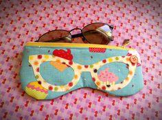 Porta Óculos Blue Cupcakes