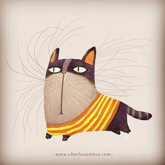 cat ilustración de Charles Santoso