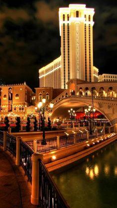 Casino, Venetian, Italy, Night, Streets, Night view, Landscape, City
