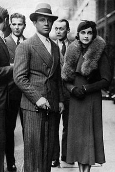 Barbara Hutton with first husband, Prince Alexis Mdivani, a former aide-de-camp of Emperor Nicholas of Russia, 1934.