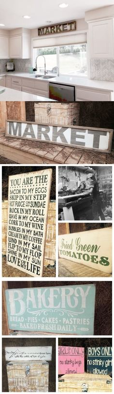 Plaques and Signs 31587: Large Rustic Wood Sign - Market 4 Feet Long! Wood Frame! Farmhouse Style -> BUY IT NOW ONLY: $59.99 on eBay!