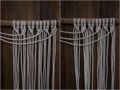 Kaarnan katveessa: Kuvalliset ohjeet: makramee seinävaate Diy Crafts Videos, Diy And Crafts, Arm Knitting, Macrame Bracelets, Clothes Hanger, Creative, Macrame Patterns, Coat Hanger, Clothes Hangers