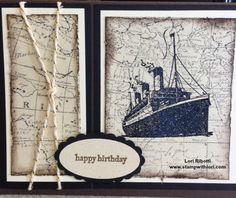 Stampin up Traveler, and World Map stamp sets.