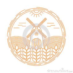 Natural Farm vector logo design template. Agriculture emblem
