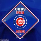 For Sale: CHICAGO CUBS Fan Xing Crossing Metal Tin Sign Wrigley Field MLB Baseball Blue http://sprtz.us/CubsEBay