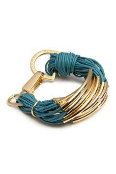 Teal String Bracelet