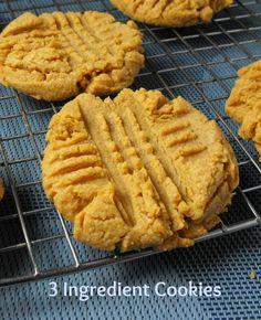 3 ingredient peanut butter cookies (gluten free)