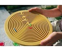 Houten labyrinth Waterdruppel