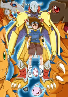 + Tai and Agumon + by HikariWing.deviantart.com on @deviantART