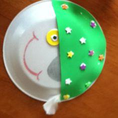 Fun, easy paper plate idea I got here. We had fun doing it!