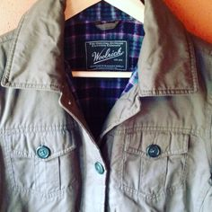"""Woolrich misses parka, NWOT Cool, cozy, and practical.  New without tags misses size medium.  Army green soft sueded cotton shell, flannel lined body, quilted poly lining in sleeves.  Light insulation.  Great heavier jacket for fall or lighter winter wear.  Adjustable button tabs at waist, double buttons at sleeve cuffs.  Front side zip pockets.  30"""" long at back collar, 21"""" across.  Direct form the original Woolrich store in Woolrich, PA!  Perfect new condition from my smoke free, pet free…"""