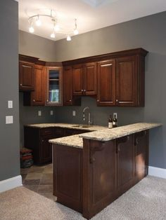 Image result for basement kitchenette with bar