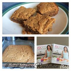 Fixate Peanutty Peanut Butter Bars, 21 Day Fix, Clean Eating Desserts, Peanut Butter